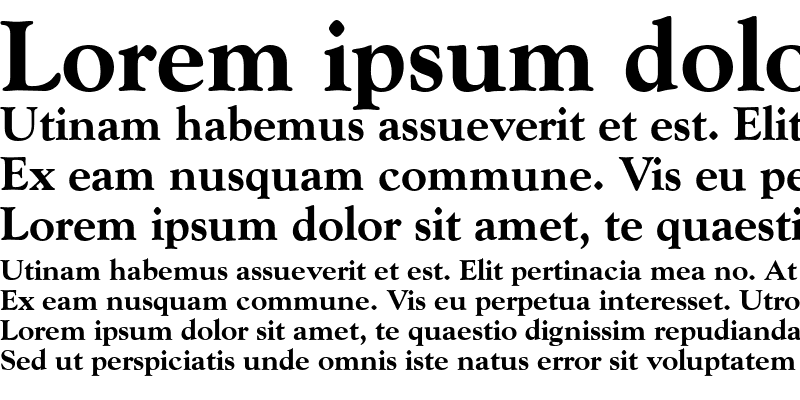 Sample of Goudy ExtraBold