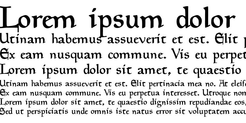 Sample of Goudy Medieval Alternate Regular
