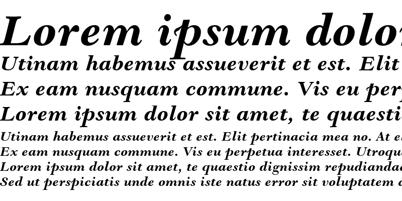Sample of Goudy Modern MT Bold Italic