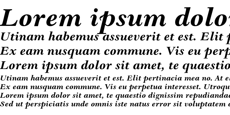 Sample of Goudy Modern MT Std Bold It