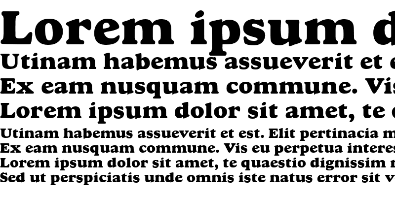 Sample of Goudy MT Extra Bold