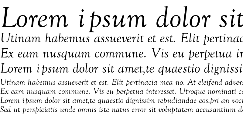 Sample of Goudy-Normal-Italic