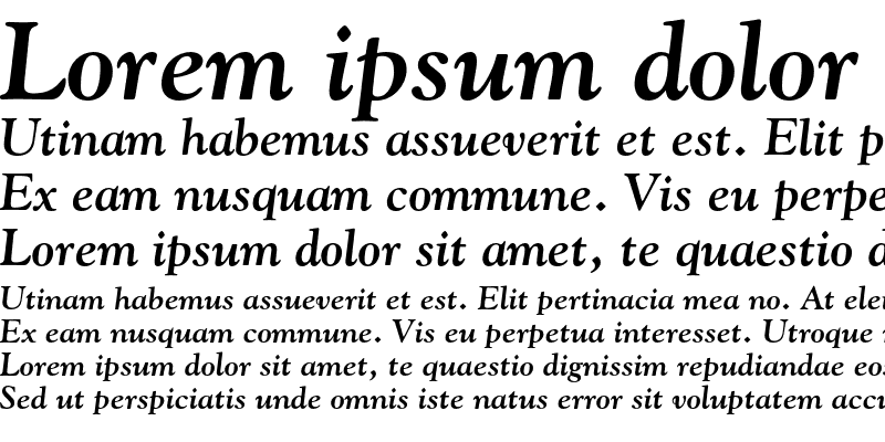 Sample of Goudy Old Style Figures Bold Italic