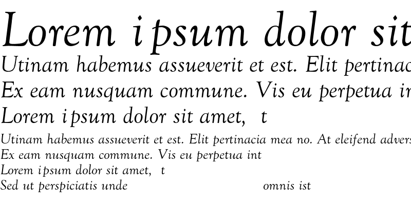 Sample of Goudy-Old-Style-Normal-Italic Regular