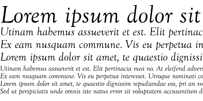 Sample of Goudy Retrospective SSi Italic
