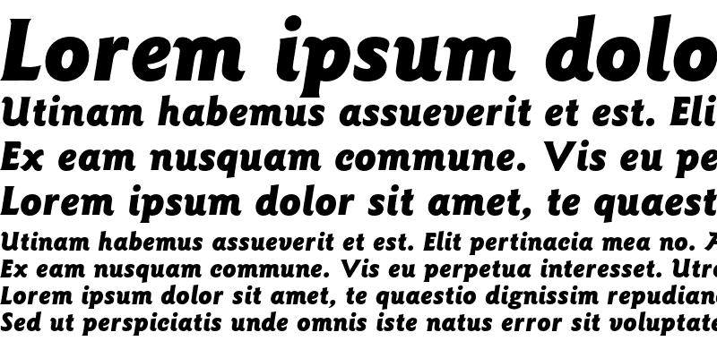 Sample of Goudy Sans AT Black Italic