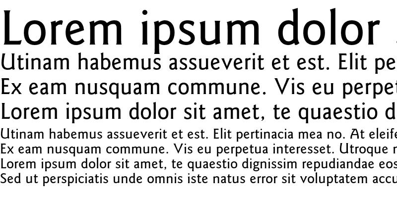 Sample of Goudy Sans AT Medium