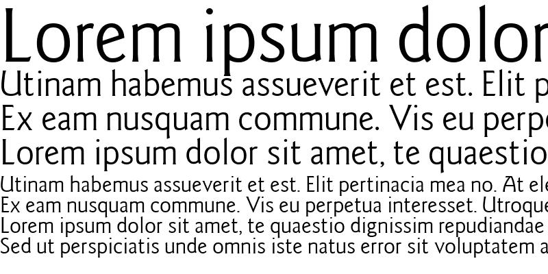 Sample of Goudy Sans