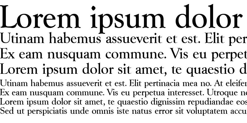 Sample of Goudy-Serial-Medium