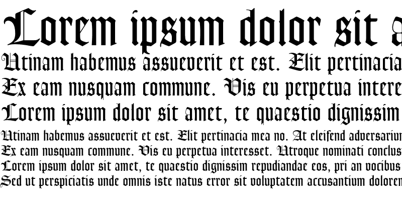 Sample of Goudy Text MT