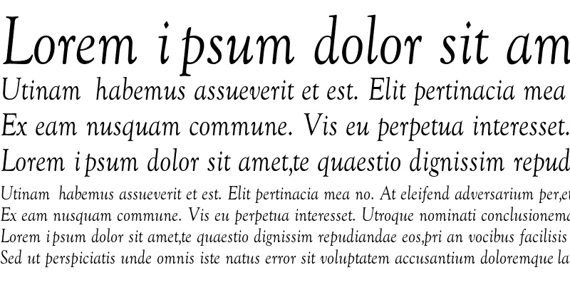 Sample of GoudyCnd-Normal-Italic