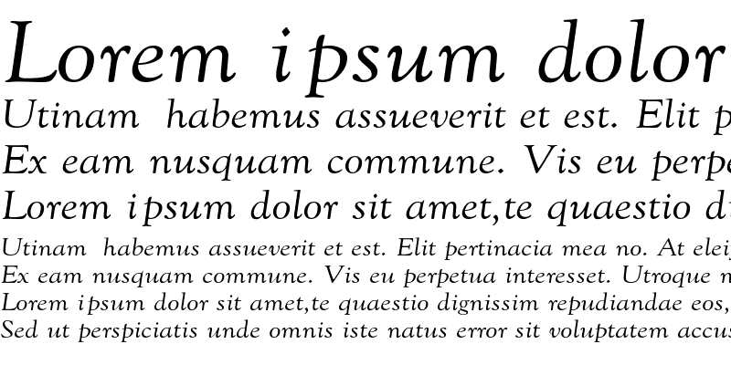 Sample of GoudyExt-Normal-Italic