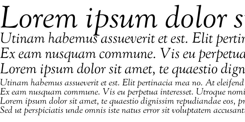 Sample of GoudyOldstyleH-Italic