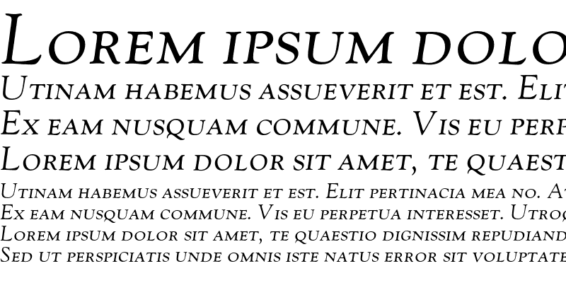 Sample of GoudyOldstyleH-SC-Italic Regular