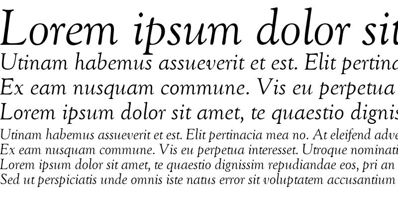 Sample of GoudyOldStyleTwo RegularItalic