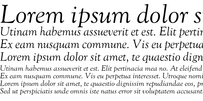 Sample of GoudyOldstyleZL-Italic