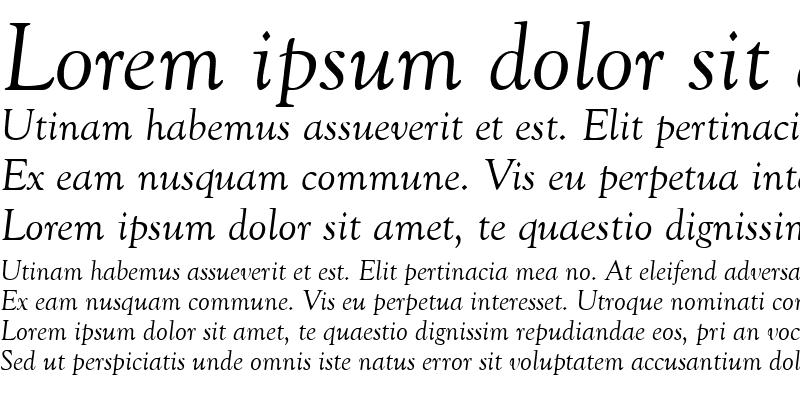 Sample of GoudyOldStyT Italic