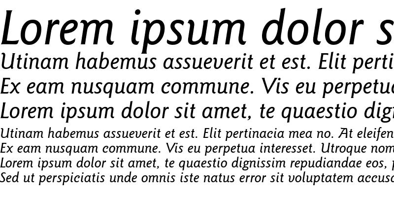 Sample of GoudySans Md BT Medium Italic