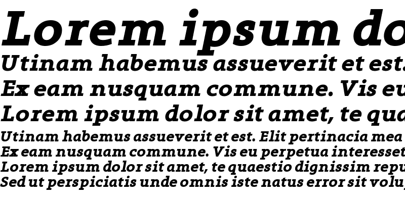 Sample of Grandesign Neue Serif Bold Italic