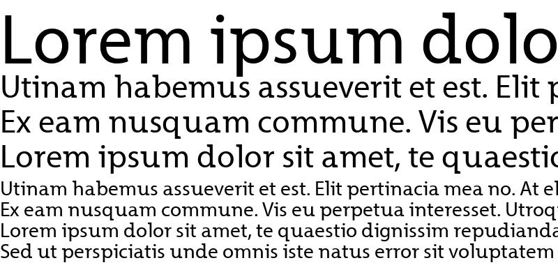 Sample of Grandesign Roman Regular