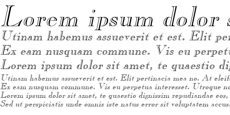 Sample of Gravure Italic