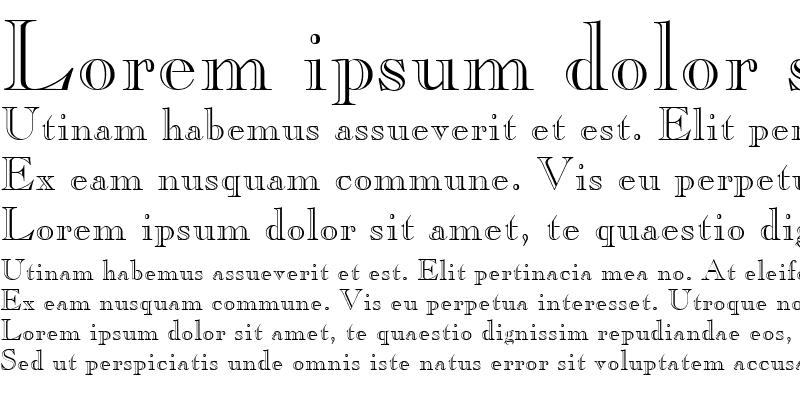 Sample of Gravure Regular