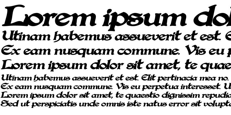 Sample of Gregorian BoldItalic