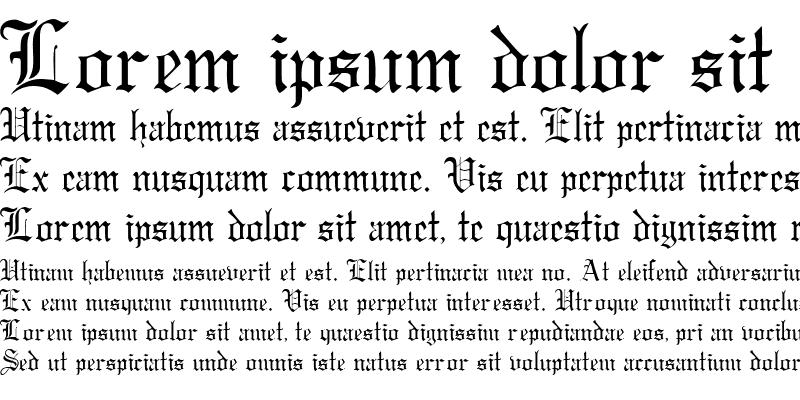 Sample of Gregorian DB