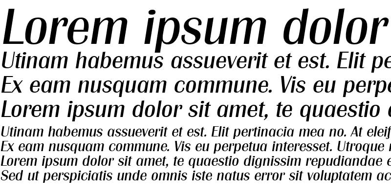 Sample of Grenoble-Serial DB RegularItalic