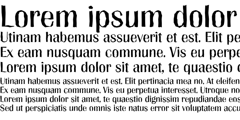 Sample of GrenobleAntique Regular