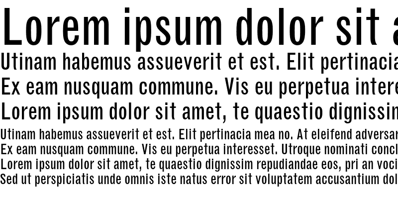 Sample of Grotesque MT Condensed Regular