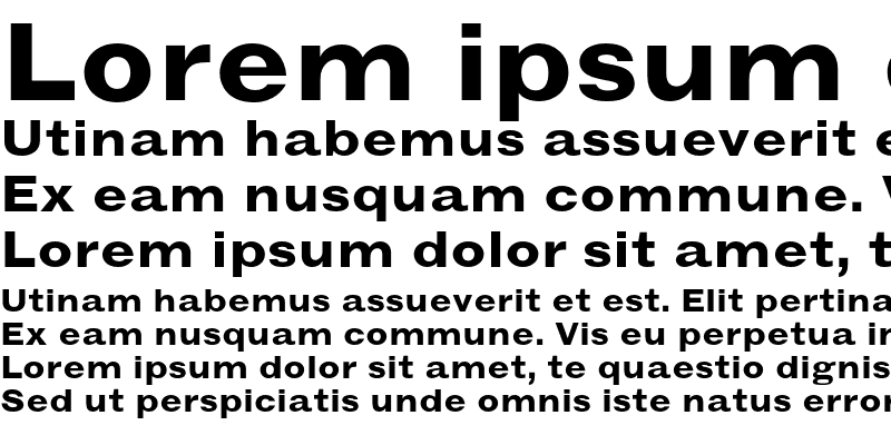 Sample of Grotesque MT Extended Bold