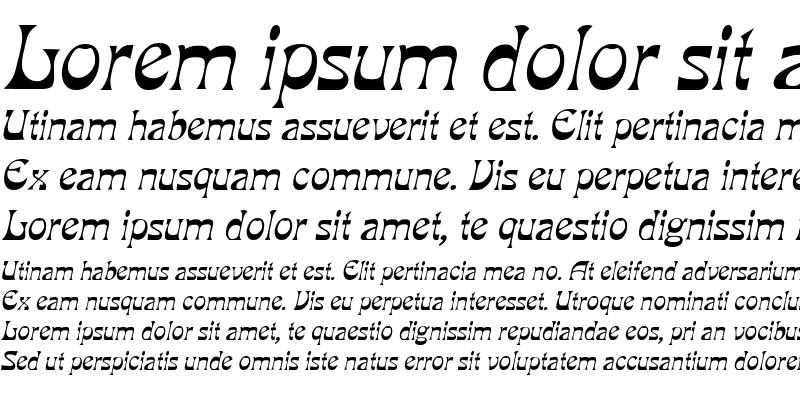 Sample of Grouse Italic