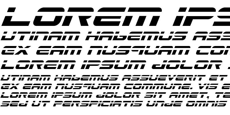 Sample of Gunship Laser Italic