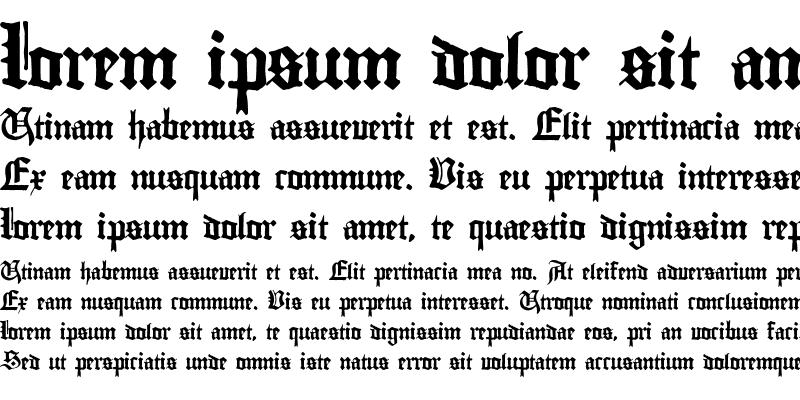 Sample of Gutenberg Textura Regular