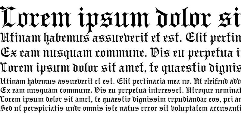 Sample of GutenbergGothic Regular