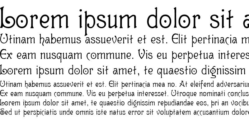 Sample of GutenbergNouveau Regular
