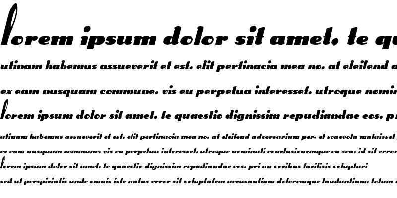 Sample of Gypsy 2 Italic