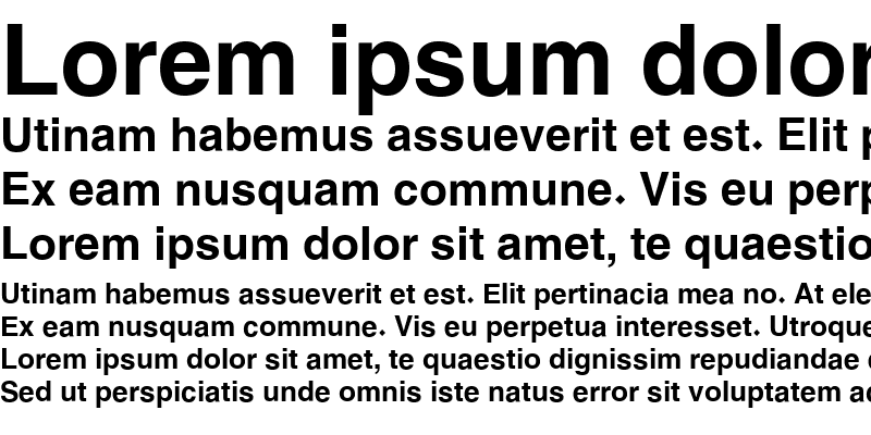 Sample of Hacen Typographer Heavy