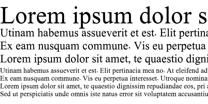 Sample of Hacen Typographer
