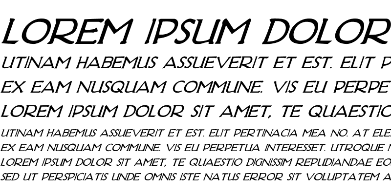 Sample of Hadriatic Bold Italic