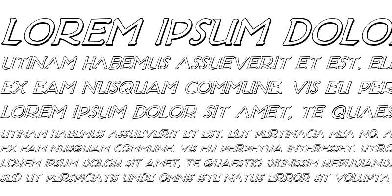 Sample of Hadriatic Shadow Italic Italic