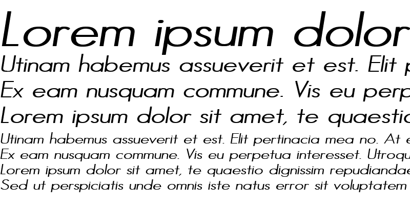 Sample of HalibutCondensed Italic
