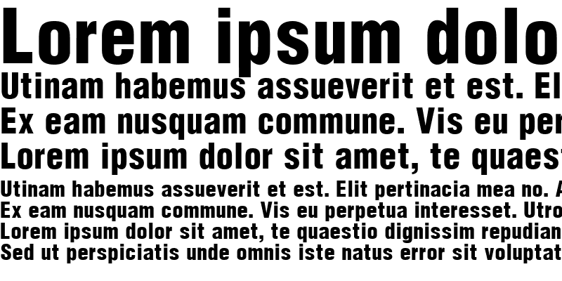 Sample of Hallmarke Condensed Black Regular