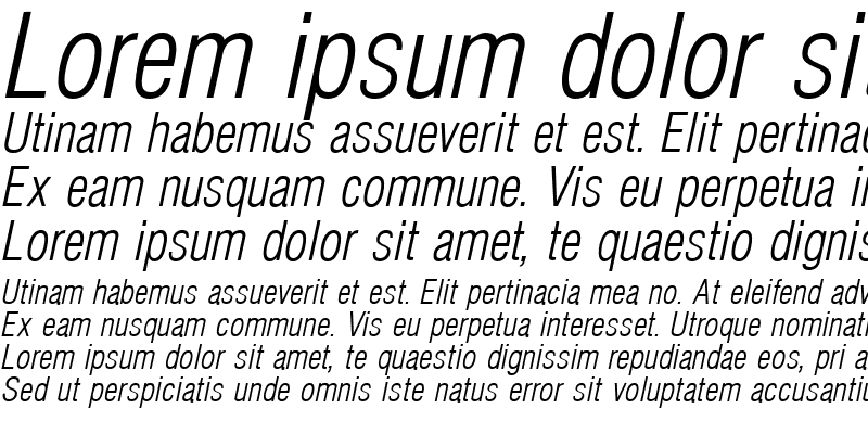 Sample of Hallmarke Condensed Light Italic