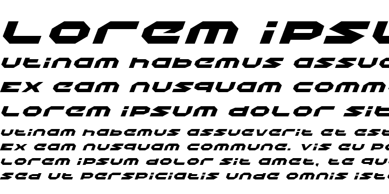 Sample of Halo Expanded Italic