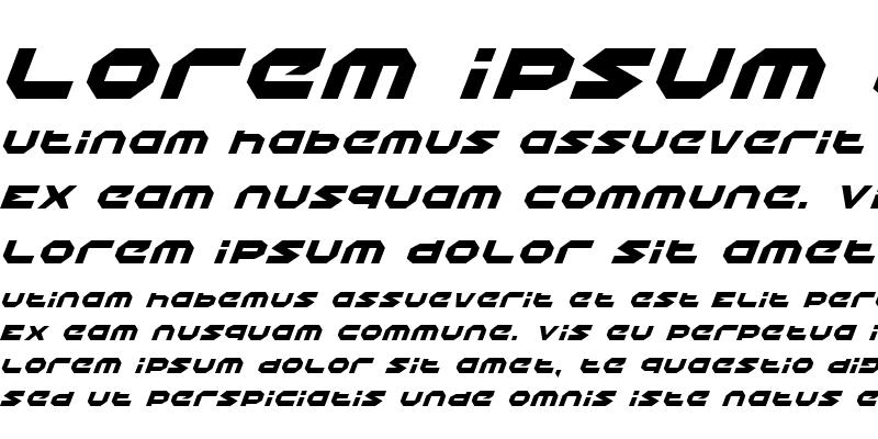 Sample of Halo Italic