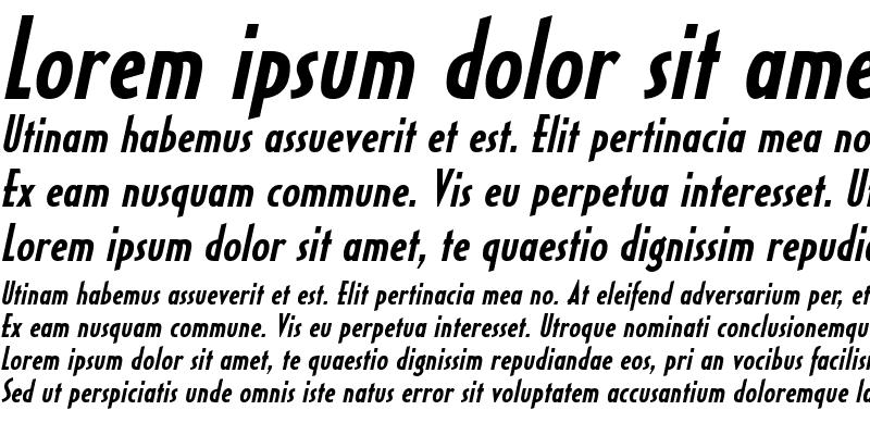 Sample of HalseyCondSSK BoldItalic