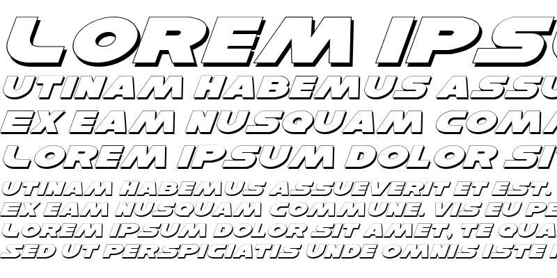 Sample of Han Solo Exp Shadow Italic Exp Shadow Italic
