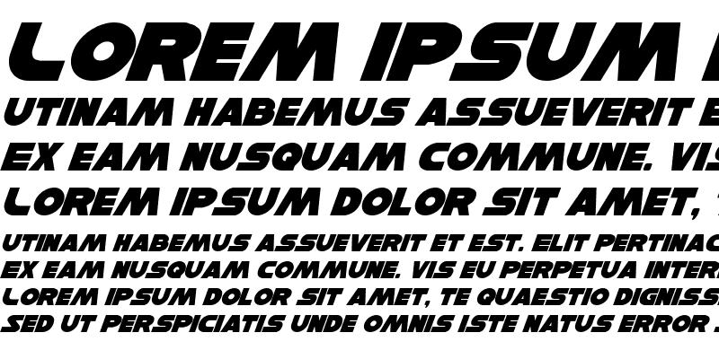 Sample of Han Solo Italic Italic